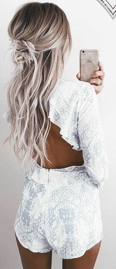 Ideas To Go Blonde Icy Long Balayage