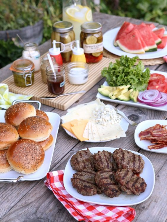 Barbecue Party burgers